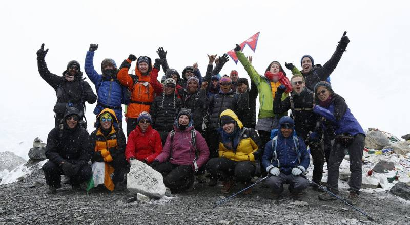 Everest Base Camp Trek group Photo
