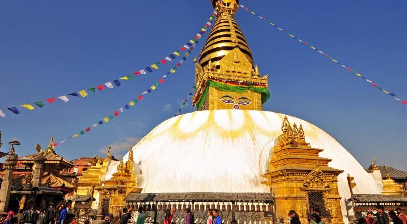 Swayambhunath Stupa- half day kathmandu Tour