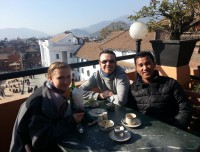 Mr. Sumba Sherpa during Tour in Kathmandu darbar Square