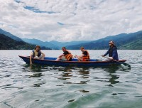 Boating in Phewa lake Pokhara