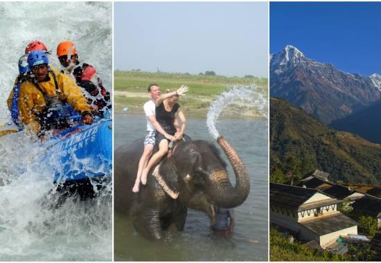 Best of Annapurna adventure: Rafting, Trekking and Safari